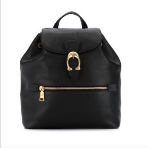 Coach Evie Backpack in Black Leather